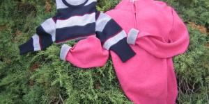 fin. 8 maglia lupo di mare con zip con contrasto e collo giro a righe