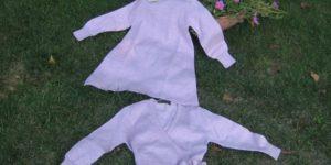 fin. 12 abito bambina con cardigan incrociato