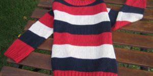 fin. 5 maglia collo barchetta a righe bambino