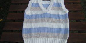 fin. 5 pullover V s/m a righe bambino